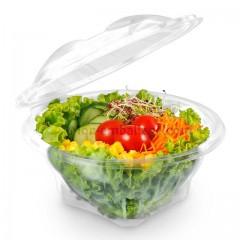Bol salade cristal à couvercle déchirable 750 gr