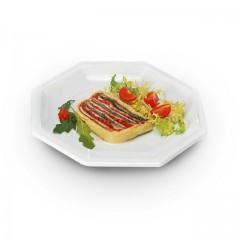 Assiette plastique octogonale 18,5 cm blanche - par 400