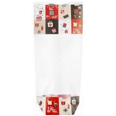 Sachet fond carton décoration Noël 12 x 26 cm - par 100