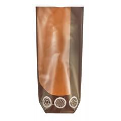 Sachet confiseur fond carton marron 12 x 26 cm - par 100