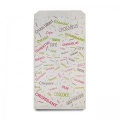 Sachet croissants kraft blanc série COTILLONS 14 x 7 x 26 cm (n°104) - par 1000