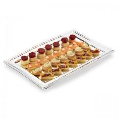 Plateau de présentation buffet argent 27,5 x 19 cm - par 5