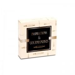 Boîte pâtissière 18 x 18 x 5 cm décor INSPIRATION - par 50