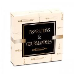 Boîte pâtissière 26 x 26 x 5 cm décor INSPIRATION - par 50