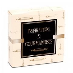 Boîte pâtissière 29 x 29 x 5 cm décor INSPIRATION - par 50