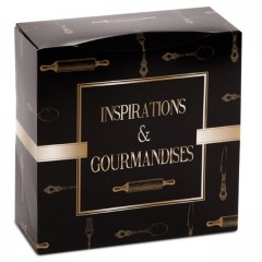 Boîte pâtissière 32 x 32 x 8 cm décor INSPIRATION - par 50