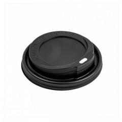Couvercle noir pour gobelet boissons chaudes 12 cl - par 100