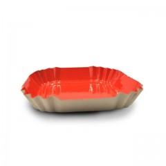 Petite assiette carton beige écru carrée de 55 mm - par 100