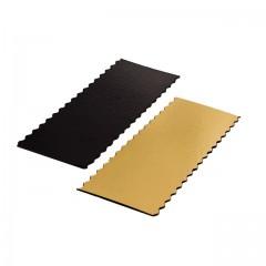 Calage à bords festonnés or/noir 24 x 12 cm - par 50
