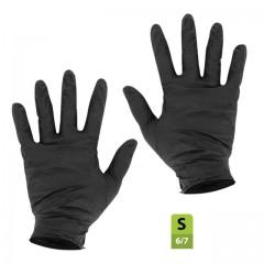 Gants nitrile noir non poudré taille S (6/7) - par 100