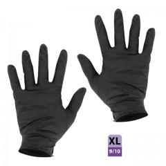 Gants nitrile noir non poudré taille XL (9/10) - par 100