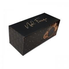 Boîte à bûche Noël féérique 35 x 11 x 10.5 cm - par 25
