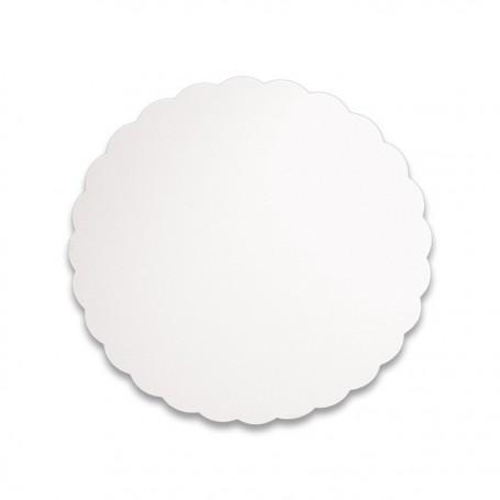 Support blanc rond diamètre 14 cm - paquet de 500