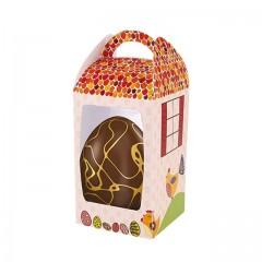 Moyenne boîte à œuf de Pâques avec fenêtre 12 x 12 x 19,5 cm - par 25