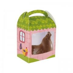 Boîte à poule de Pâques avec fenêtre 16 x 11 x 16 cm - par 25