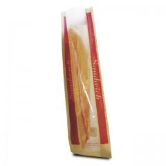 Sac sandwich kraft à fenêtre 9 + 6,5 x 35 cm - par 1000
