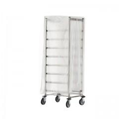 Housse de protection pour chariot transparente 87 x 25 x 180 cm - par 50
