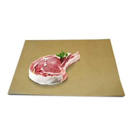 Papier thermoscellable kraft brun format 33 x 50 cm - paquet de 10 kg