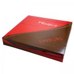 Boîte pâtissière rouge 32 x 32 x 5 cm décor SMACK - par 50