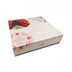 Boîte pâtissière 33 x 33 x 5 cm décor BAROQUE - par 50