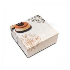 Boîte pâtissière 28 x 28 x 8 cm décor BAROQUE - par 50