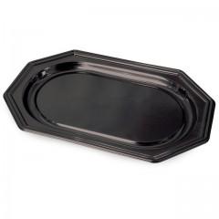 Plat de présentation octogonal noir 46 x 30 cm - par 10