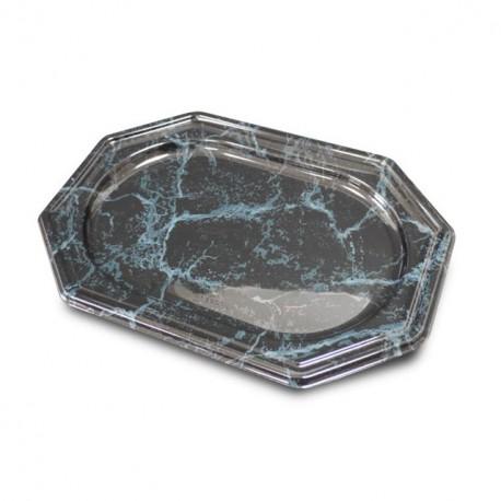 Plat de présentation octogonal marbre 36 x 24 cm - par 5