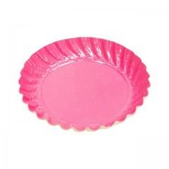 Mini assiette carton ronde fushia diamètre 55 mm - par 100