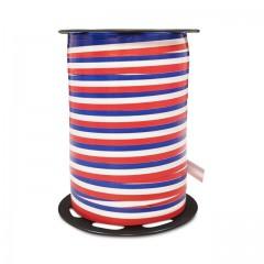 Bolduc bleu blanc rouge brillant 10 mm x 225 m - à l'unité
