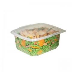 Barquette plastique transparente Ondipack 1,2 kg avec couvercle - par 50