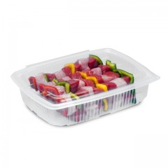 Barquette plastique transparente Ondipack 1,5 kg avec couvercle - par 100