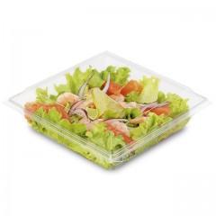 Boite plastique à salade FRESHIPACK transparente 850 ml avec couvercle - par 240