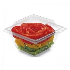 Barquette Freshipack transparente 500 ml avec couvercle attenant - par 450
