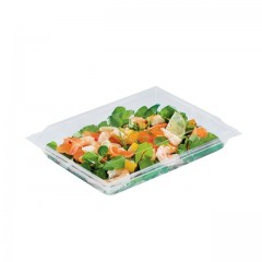 Boite plastique à salade FRESHIPACK cristale 900 ml avec couvercle - par 180