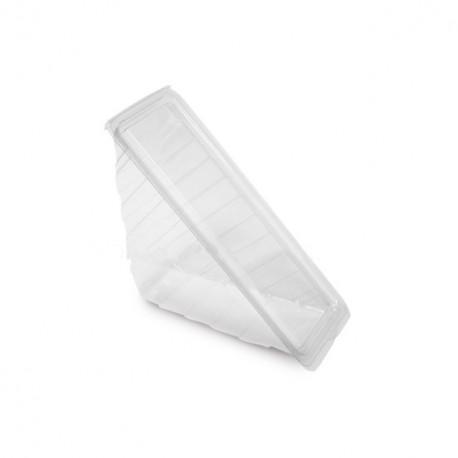 Boîte triangle sandwich cristal avec couvercle à charnière