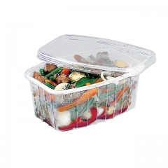 Barquette plastique transparente Pack Chaleur 1500 ml avec couvercle - par 200
