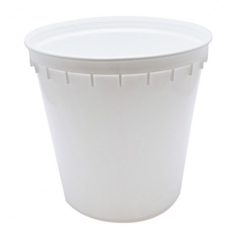 Pot à crème blanc de 100 cl - carton de 375