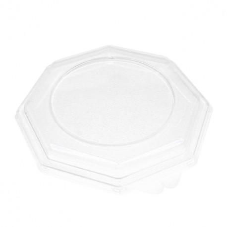 Couvercle transparent pour assiette octogonale 24 cm