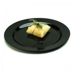 Assiette ronde noire MOZAIK Ø 19 cm - par 20