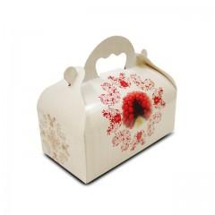 Boîte pâtissière avec poignée 12 x 10 x 7 cm décor BAROQUE- par 50