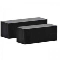 Carte longue 5 x 15 cm PVC noire pour imprimante étiquette Edikio Flex - par 500