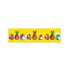 Ruban jaune décor cirque de Pâques 25 mm x 20 m - à l'unité