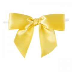 Noeud satin citron - par 100