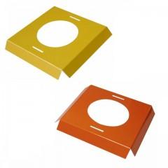 Calages jaunes et oranges pour boîte à oeuf de Pâques 7,8 x 7,8 x 2 cm - par 25
