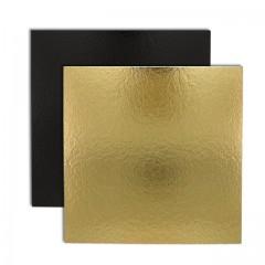 Carré carton or/noir 28 x 28 cm 1100 g/m² - par 50
