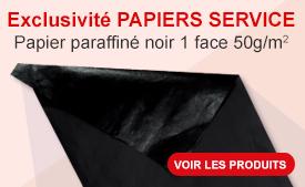 Papier enduit noir